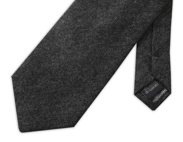 BLACK mottled TWEED TIE