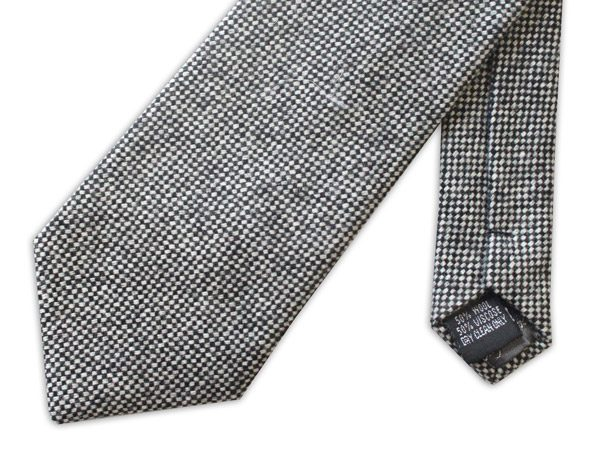 BLACK/WHITE MOTTLED TWEED TIE-0