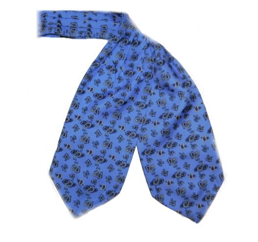 BLUE PAISLEY SILK CRAVAT-0