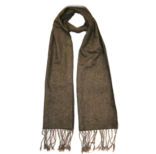 Brown Tweed Scarf-0
