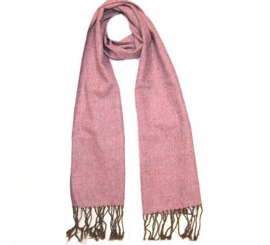 Pink Tweed Scarf -0