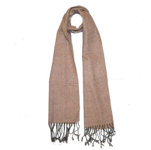 Orange Herringbone Tweed Scarf-0