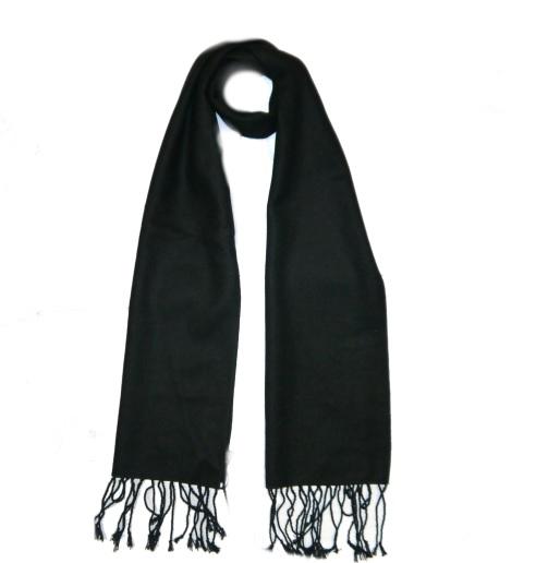 Black Wool Scarf-0
