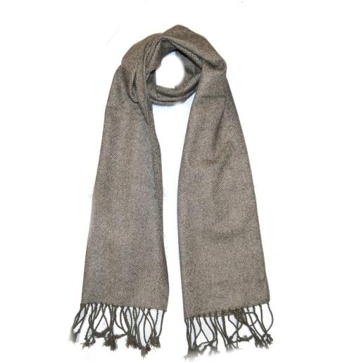 Beige Tweed Scarf-0