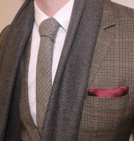 Dark Grey Wool Scarf-0