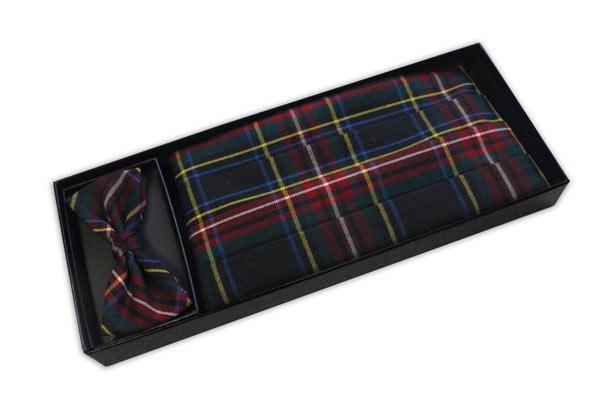 Multi Tartan Cummerbund and Bow Tie Set