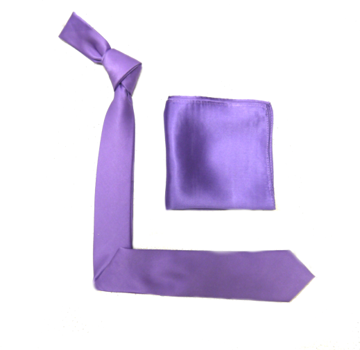 Purple Silk Skinny Tie -0