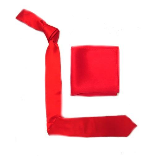 Red Silk Skinny Tie-0