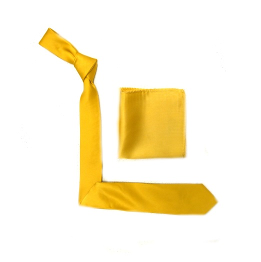 Canary Yellow Silk Skinny Tie -0