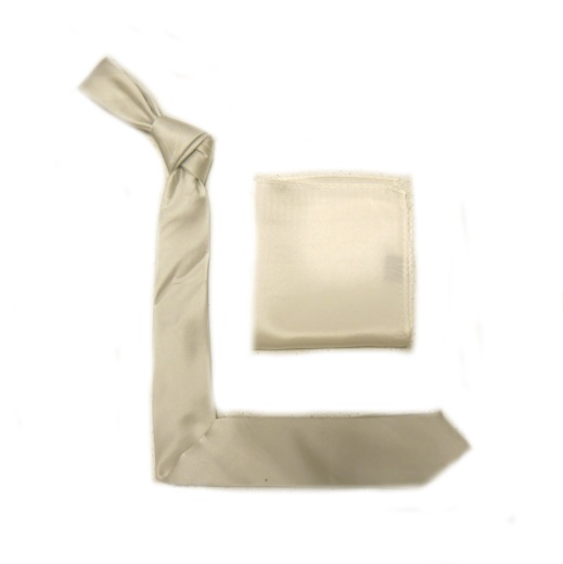 White Silk Skinny Tie -0