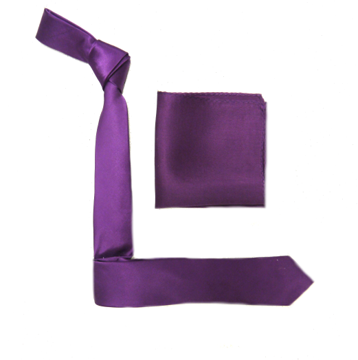 Dark Purple Silk Skinny Tie-0