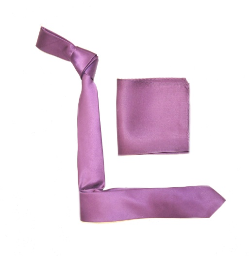 Lilac Silk Skinny Tie -0