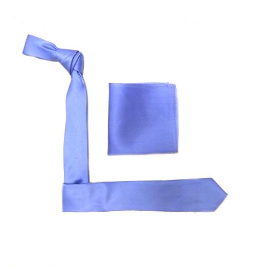 Sky Blue Silk Skinny Tie-0