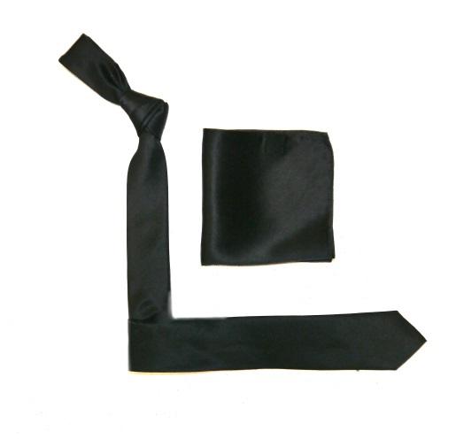 Black Silk Skinny Tie -0