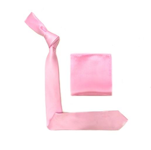 Baby Pink Silk Skinny Tie -0