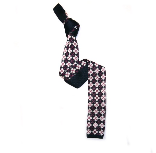 Patterned knitted ties
