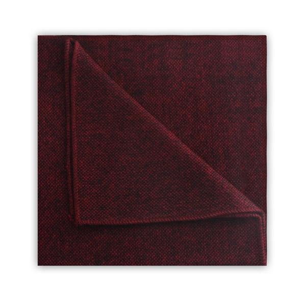 Maroon tweed pocket square