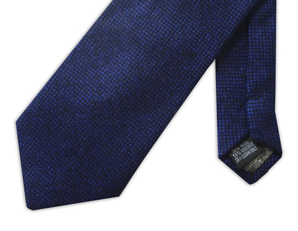 Plain Navy  Wool Tie
