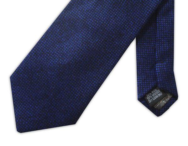 Royal Blue Tweed Tie-0