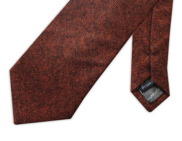 Slim Burnt Orange Tweed Tie