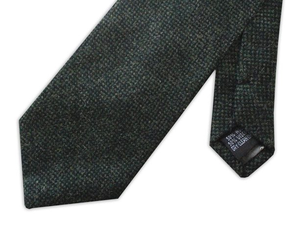 Racing Green Tweed Tie -0
