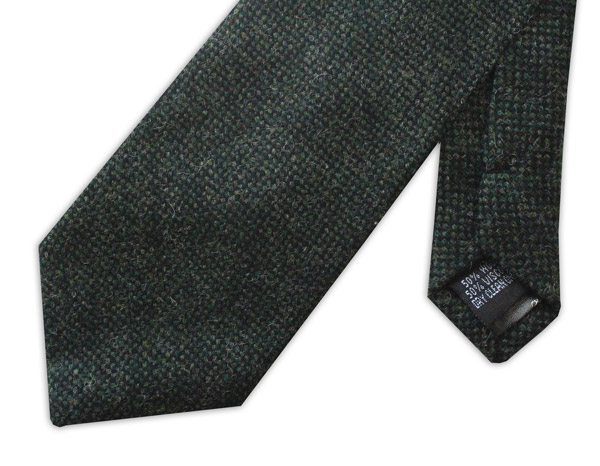 Racing Green Tweed Tie