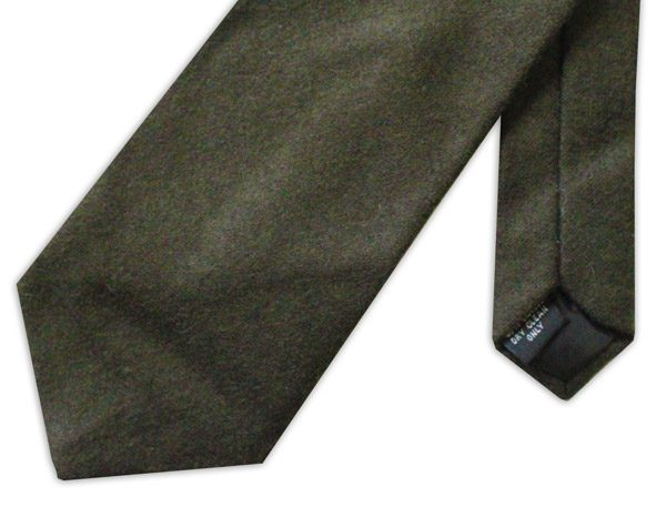 plain country green wool tie-0