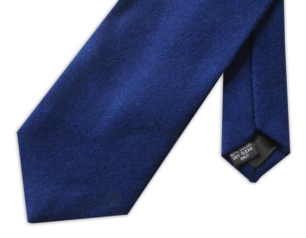 Plain Royal Blue wool tie -0
