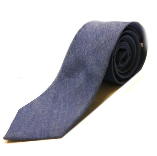 blue denim tie-0