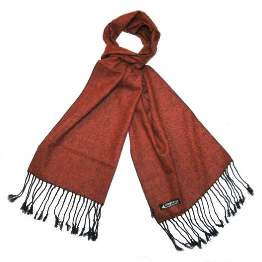 Burnt Orange Tweed Scarf-0