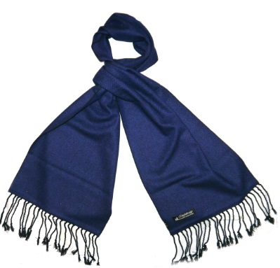 Royal Blue Tweed Scarf -0