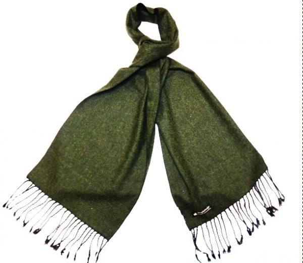 Racing Green Tweed Scarf -0