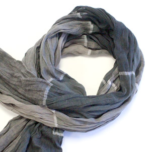 Multi Grey cotton scarf -0