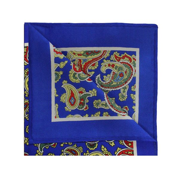 Blue/red/yellow paisley square -0