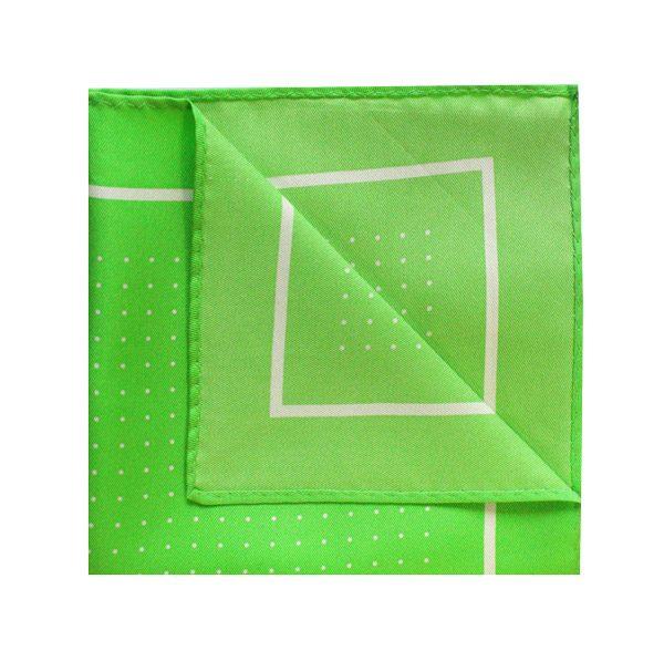 Pin dot square in green/white-0