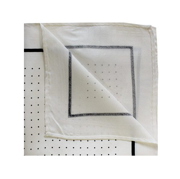 Pin dot square in white/black-0