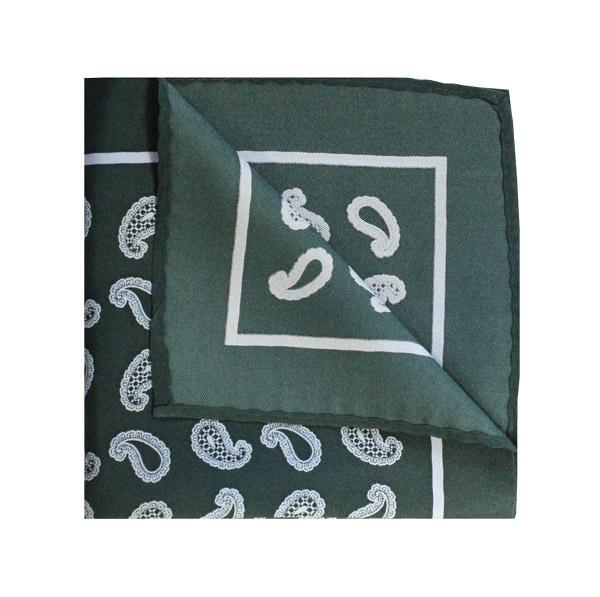Green/white paisley square