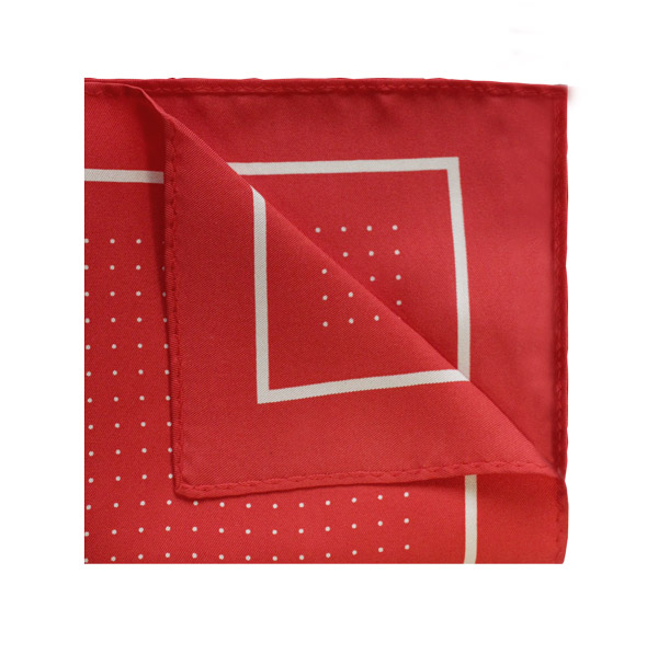 Pin dot square in red/white