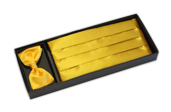Yellow Cummerbund and Bow Tie Set -0