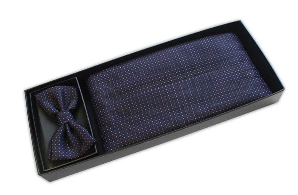 PURPLE MICRO DOT CUMMERBUND / BOW TIE SET-0