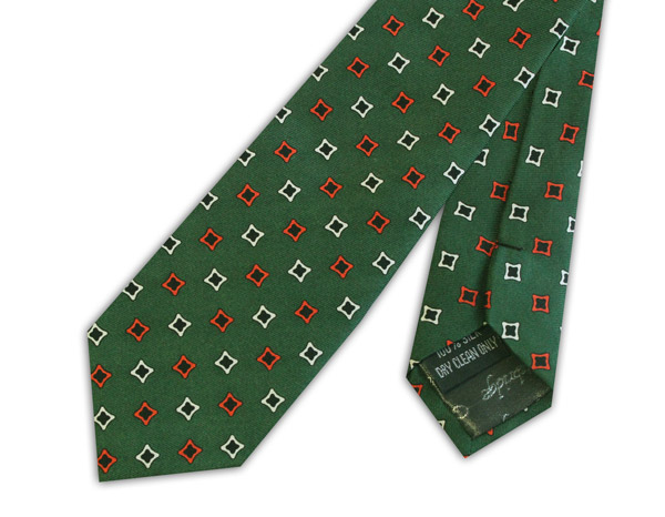 RACING GREEN/DIAMOND SILK SKINNY TIE
