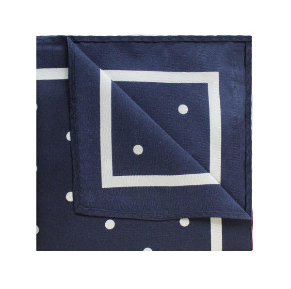 NAVY/WHITE POLKA DOT Square-0