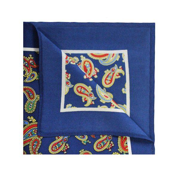 Royal blue/ORANGE PAISLEY Square-0