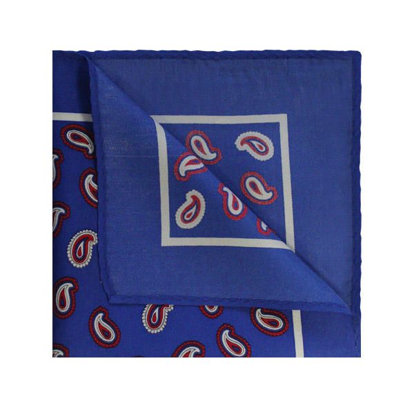 Blue/Red PAISLEY SQUARE