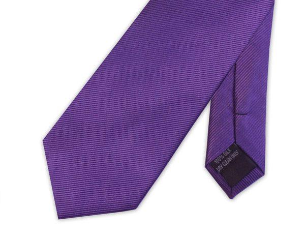 Purple WOVEN SILK TIE-0