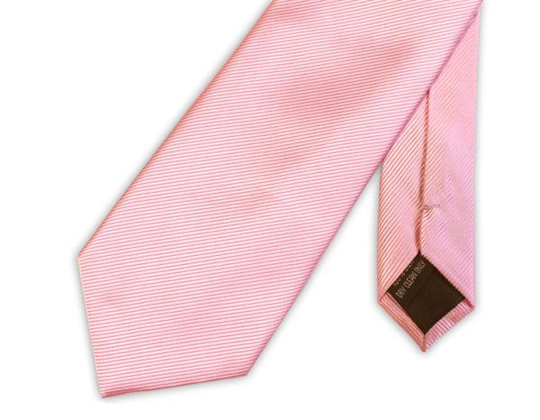 Soft Pink Woven Silk Tie