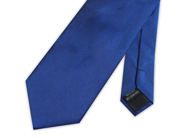 ROYAL BLUE WOVEN SILK TIE-0