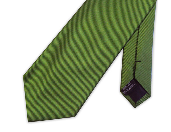 OLIVE GREEN WOVEN SILK TIE