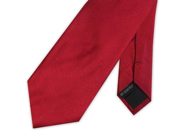 CLARET RED WOVEN SILK TIE-0