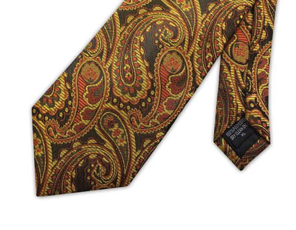 brown/orange/yellow paisley design-0